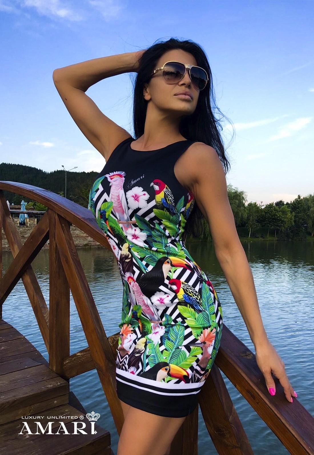 3606e6720e5 Коктейлна рокля TROPICANA - Рокли - AMARI luxury